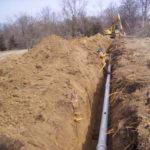 Прокладка трубопровода наружной канализации