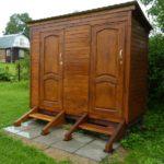 Как построить дачный туалет с хозблоком