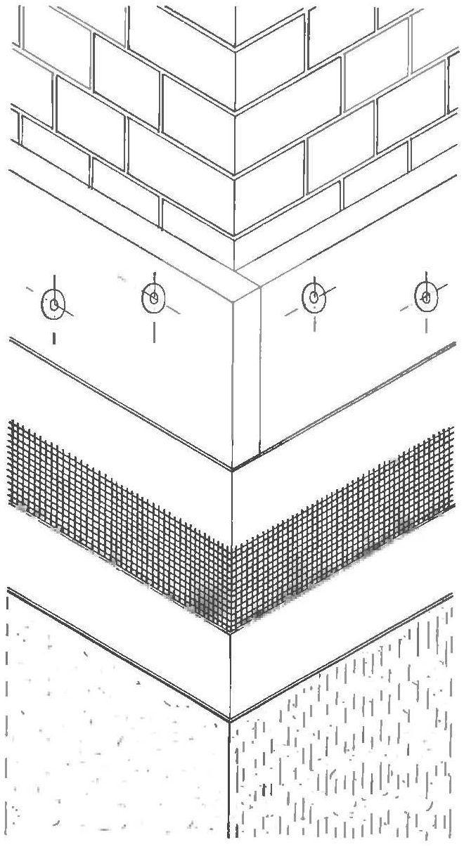 Монтаж полистирольных плит на фасад