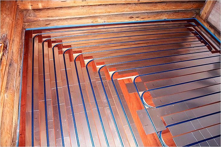 Тёплые полы водяные своими руками на деревянный пол