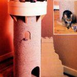 Строим домик и когтеточку для кошки