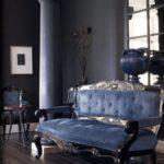 Темно-синие цвета в интерьере