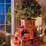 Делаем новогоднюю подставку для подарков и елки