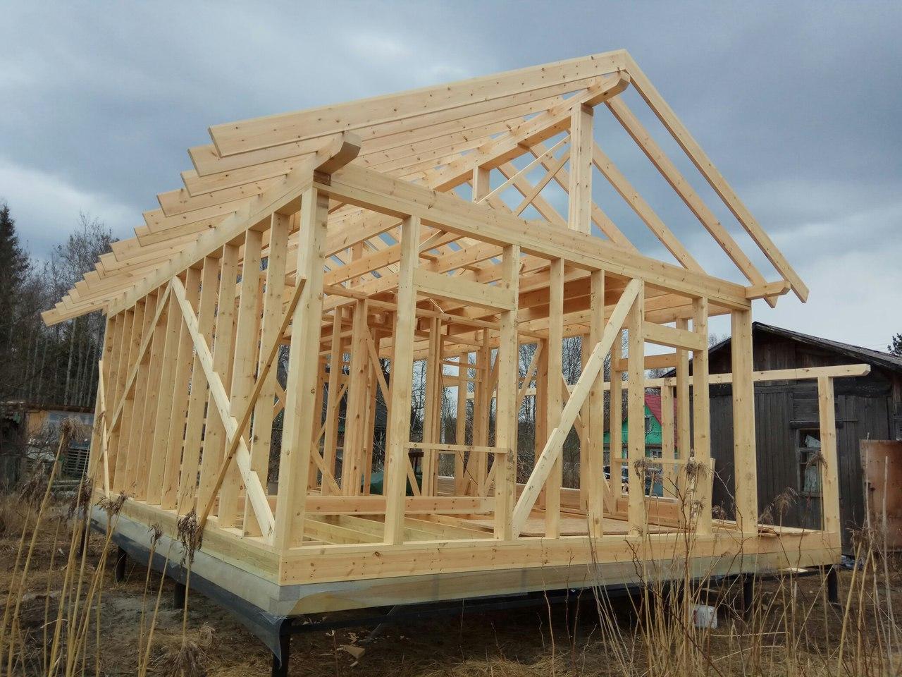 Применение древесины для каркасных построек